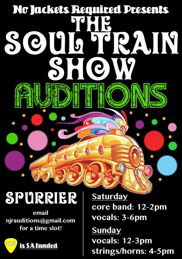 Soul Train Show Auditions Flyer